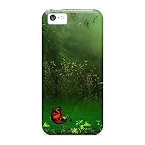 Durable Butterfly Boats Back Case/cover For Iphone 5c