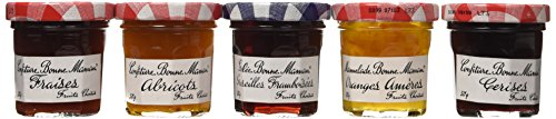- Bonne Maman Assorted Mini Jams - Strawberry, Apricot, Raspberry, Orange Marmalade, Cherry - 8.82 ounces total