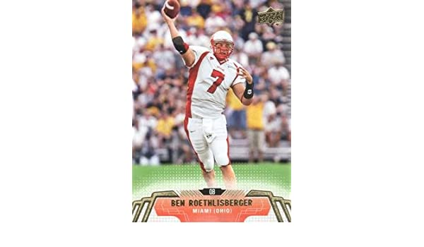 70e8f07a5 2014 Upper Deck #40 Ben Roethlisberger - Miami Ohio RedHawks - Pittsburgh  Steelers (Football Cards) at Amazon's Sports Collectibles Store