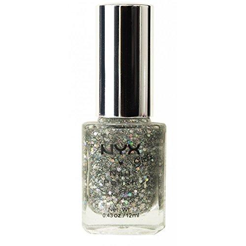 NYX Cosmetics Glitter Nail Polish Silver Glitter NGP168 (Nyx Nail Nails Polish)