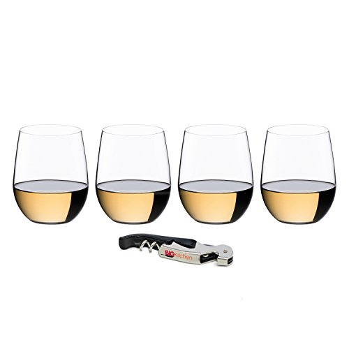 - Riedel O Viognier/Chardonnay Wine Tumbler 3+1 Value Gift Set with Bonus BigKitchen Waiter's Corkscrew