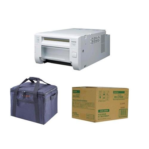 Fujifilm ASK 300 Quick Print Station Dye-Sublimation Digital Printer System - Bundle With Fujifilm 4 x 6'' Dye-Sub Media for ASK-300 (800 Prints), Padded Printer Carrying Case