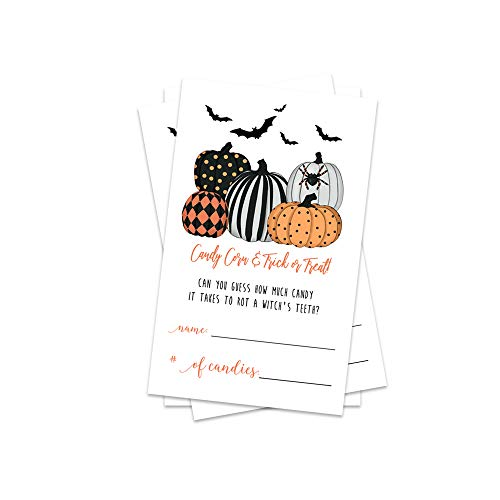 Halloween Party Games - Guess How Much Candy (25 Pack and 1 Sign) -