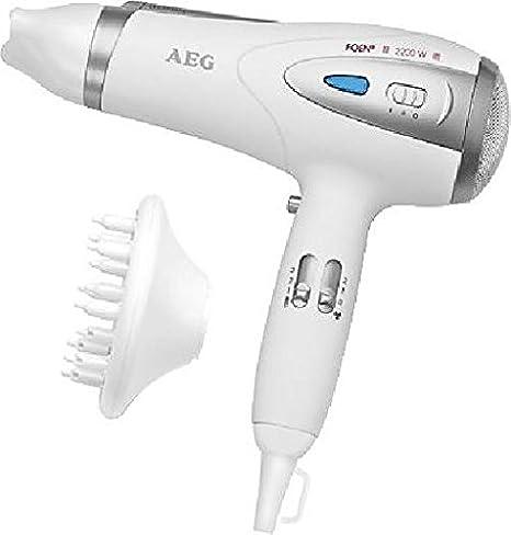 AEG HTD 5584 White 2200 W - Secador de pelo (White, Plastic, Hanging