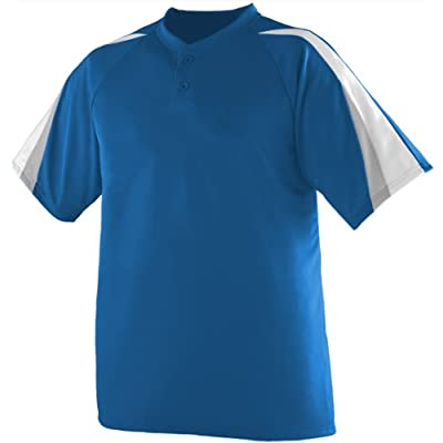 3-Color Two-Button Wicking Moisture Management Baseball/Softball Sports Jersey
