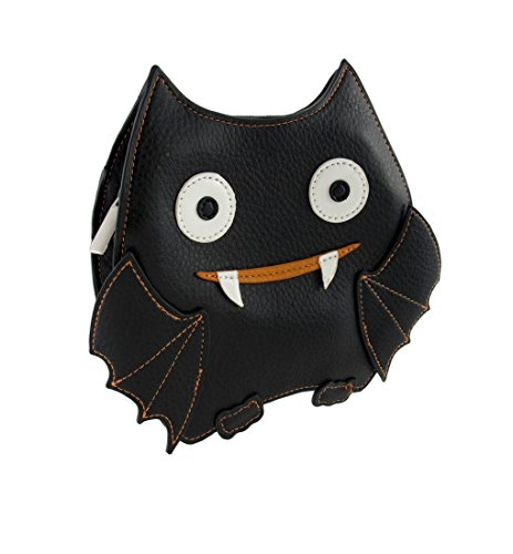 Small Bat Crossbody Shoulder Bag (Black & Orange) ()