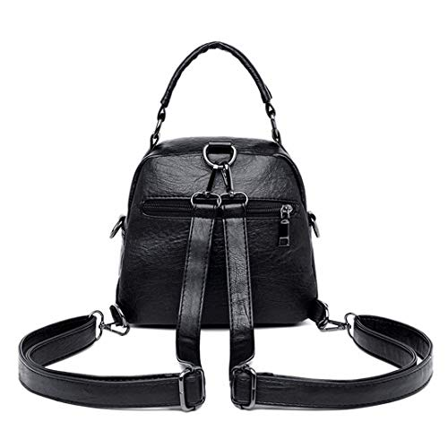 Ragazze Black Piccoli Vintage Bagpack Zaino Per Donna Borse Scuola Brown Da Multifunzione Zaini x1PqIP