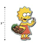 (TK-210) Simpson | Lisa - Waterproof Vinyl Sticker for Laptops Tablets Cars Motocycles Bicycle Skateboard Luggage Or Any Flat Surface (3')