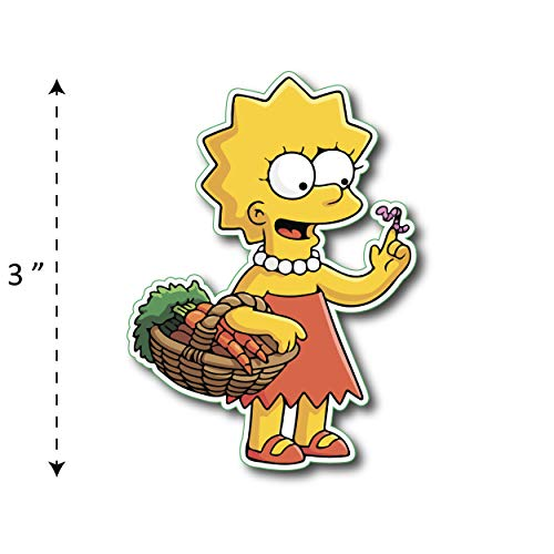 (TK-210) Simpson | Lisa - Waterproof Vinyl Sticker for Laptops Tablets Cars Motocycles Bicycle Skateboard Luggage Or Any Flat Surface (3