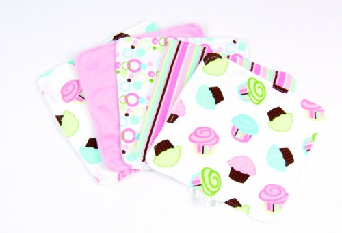 Trend Lab Cloths Cupcake Pattern