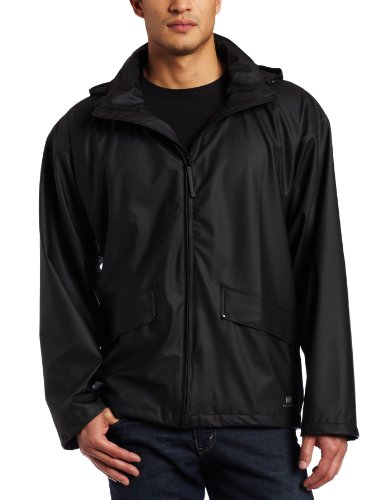 Helly Hansen Men's Voss Windproof Waterproof Rain Jacket, 990 Black, Small (Best Waterproof Jacket Brands)