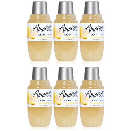 Lemon Drop Mixer - Amoretti Premium Martini Cocktail Mix Minis, Lemon Drop, 3.4 Fluid Ounce (pack of 6)