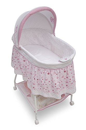 41KzIURdCeL - Disney Baby Ultimate Sweet Beginnings Bedside Bassinet - Portable Crib With Lights, Sounds And Vibrations, Disney Princess