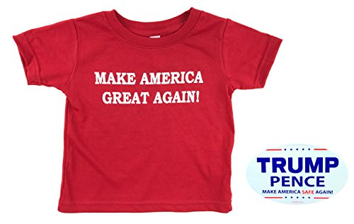 - how-z-it Donald Trump Make America Great Again Baby Toddler T Shirt (4, Red)