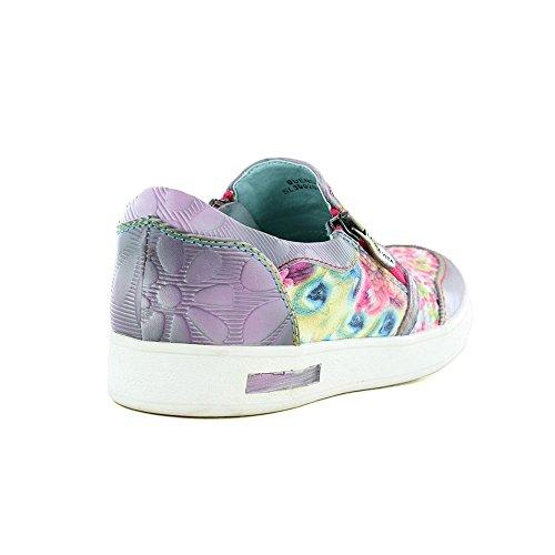 Purple Leather Womens SL39920 Bueno Laura Violet Fashion Vita 3A Trainers 03 qYU4Wv