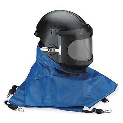 3M Whitecap Polyethylene Abrasive Blasting Helmet Assembly W-8100B, Black