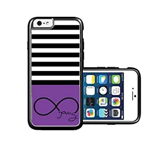 chen-shop design RCGrafix Brand hakuna-matata Coral Chevron Black iPhone 6 Case - Fits NEW Apple iPhone 6 high quality