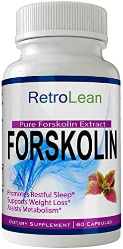 Retro Lean Forskolin for Weight Loss Pills Tablets Supplement - Capsules with Natural High Quality Pure Forskolin Extract Diet Pills, Boost Metabolism and Digestive Function