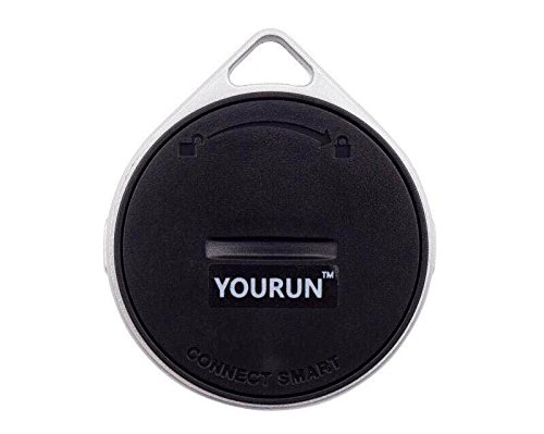 YOURUN Mini Smart Bluetooth Anti-Lost Alarm Device For Key/Cell/Kids/Pets/Car,Compatible With IOS And Android System,White&Black (Black) by YOURUN
