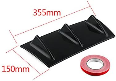 FOORDAY Car Diffuser Fins Shark Style Universal Tail Bumper Rear Bumpers ABS Lip Diffuser Fin Gloss Black ABS Style 1