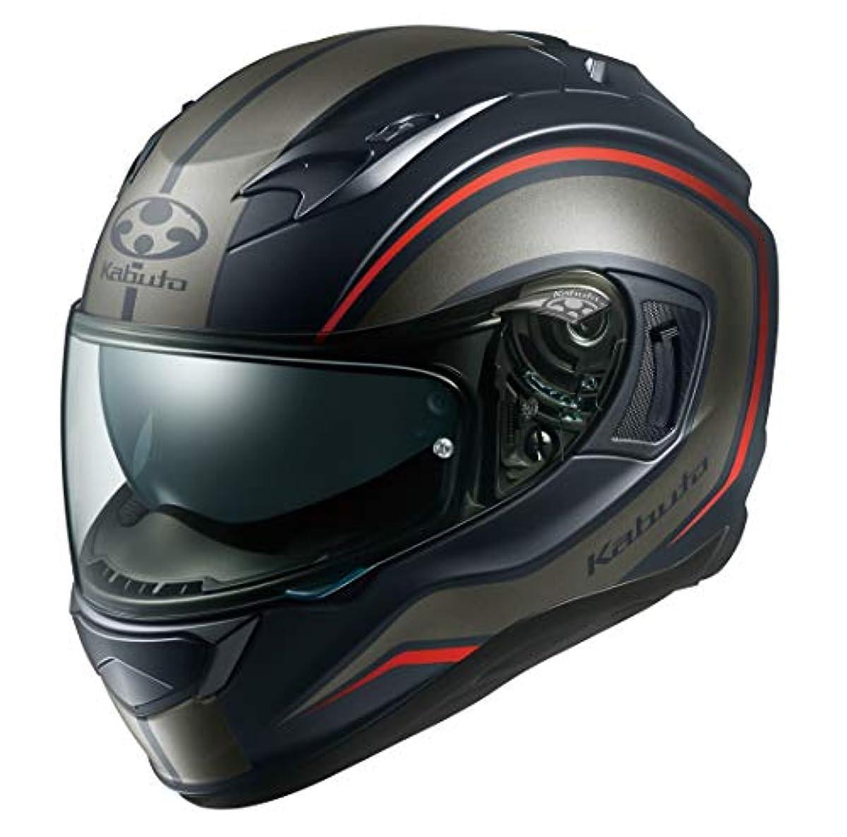 [해외] OG K (카부)카브도(OGK KABUTO)오토바이 헬멧 풀 페이스 KAMUI3 NACK(낫쿠) 플랫 블랙 그레이 (사이즈:S) 584917