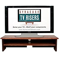 X-Large Triple Tier TV Riser 36x14x8 3/4high Red Oak Stained Solid Hardwood