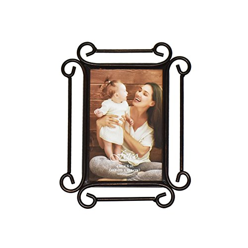 Fetco Home Dcor Alton Bronze 4x6 Picture Frame Classic Scroll Picture Frame