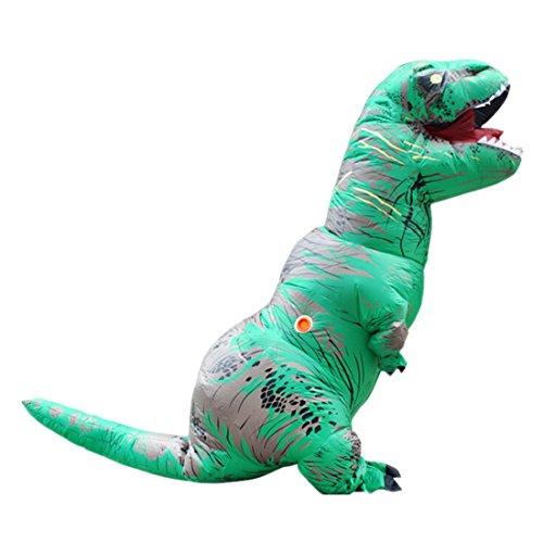 Disfraces de Hinchable T Rex Dinosaurio Traje inflable para Adultos Cosplay para Fiesta Halloween