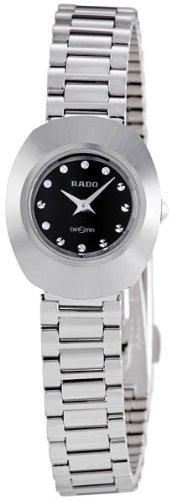 Rado Original Black Diamond Dial Stainless Steel Ladies Watch R12558153