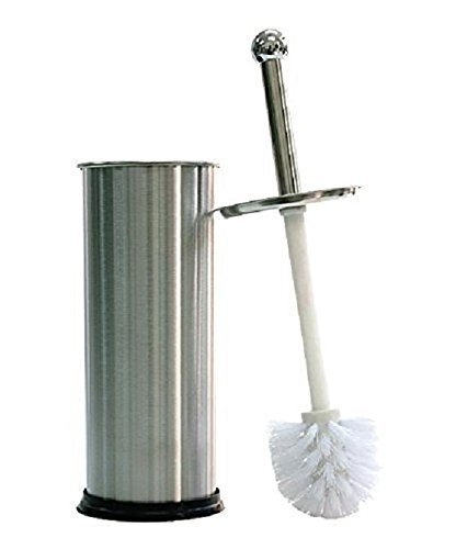 Dependable Industries Stainless Steel Toilet Brush With Holder and Drip Cup (Hide Laundry Holder)