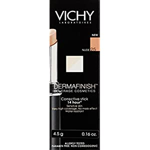 Vichy Dermafinish Corrective High Coverage Concealer Stick, 14 Hour Color Wear - Nude 25, 0.4 Fl. Oz.