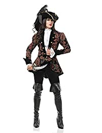 Charades Women's Thigh High Boot Tops, Black