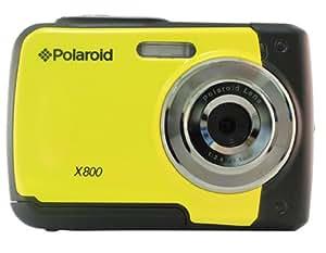 "Polaroid X800 - Cámara de fotos subacuática de 8 Mp (pantalla de 2.4"", zoom óptico 8.0x), amarillo"