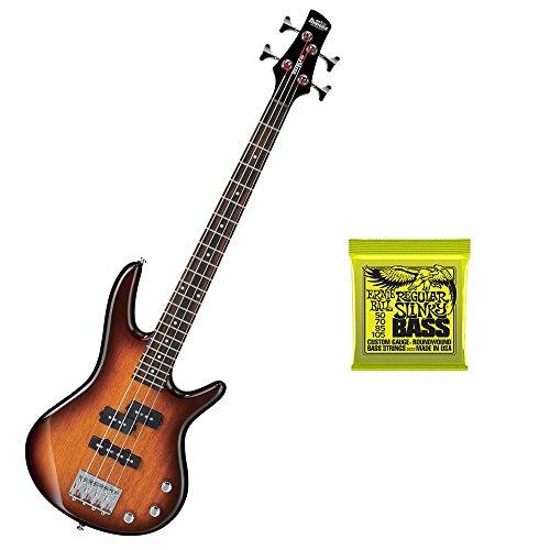 Ibanez Mikro 3/4 Size Bass Guitar (Brown Sunburst) Plus Ernie Ball Bass Strings
