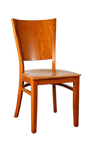 - Beechwood Mountain BSD-86SS-C Solid Beech Wood Side Chairs in Cherry with wood seat for Kitchen and dining, set of 2