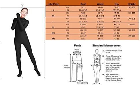 Womens Zentai Suit Bodysuit Costume 2nd Skin Lycra Full Body Without Head Mask