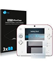 savvies 6-Pezzi Pellicola Protettiva Compatibile con Nintendo 2DS Protezione Schermo Trasparente