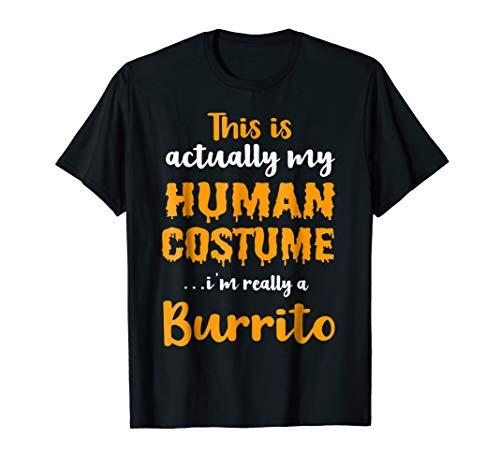 Funny Burrito Halloween Costume 2018 T Shirt