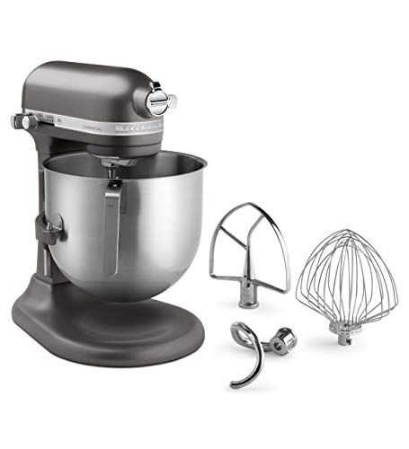 KitchenAid KSM8990DP 8-Quart Commercial Countertop Mixer, 10-Speed, Gear-Driven, Dark Pewter from KitchenAid