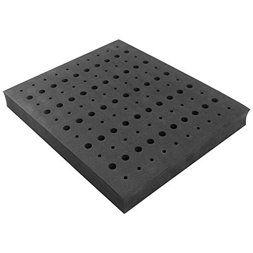 (Router Bit Storage Tray - Foam Material for Safe Router Bit Storage, 1-5/16 inch Thick and Stores 60 1/4 inch and 50 1/2 inch Shank Router Bits)