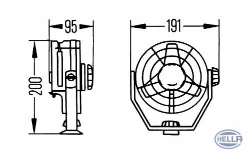 HELLA 8EV 003 361-001 Ventilador habit/áculo