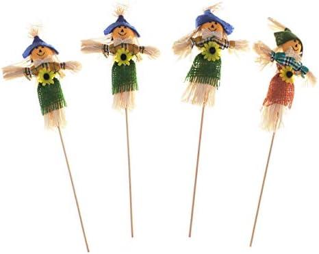 Amosfun 4 Piezas Decoraciones de espantapájaros de Halloween para jardín, Porche, Patio de casa: Amazon.es: Hogar