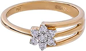 Palazzo Jewellery 18K Yellow Gold 0.17ct Genuine Diamond Star Ring in Size 6 US [RBKY33075]
