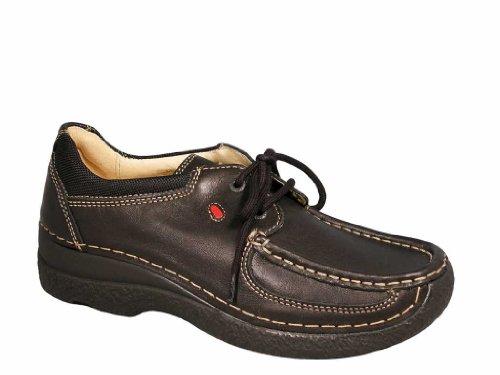 Shoe 300 Leder Wolky Comfort Schwarz Schnürschuhe Roll FwWwASqIt