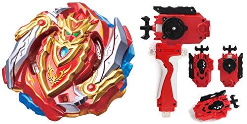 CHO-Z Achilles bey Burst gyro Blade B-129 cho z spriggan Gyro Bay Turbo spryzen Battling Top Slash cho z Valkyrie Super Launcher Attack Starter Combination Novelty Spinning Game Toy (Strater C)