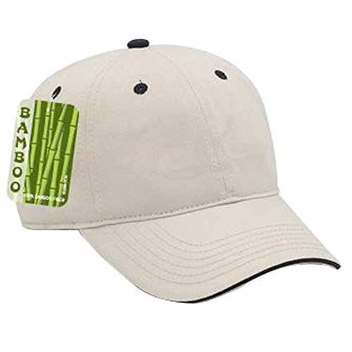 OTTO Brushed Bamboo Twill Sandwich Visor Low Profile Style Caps ()