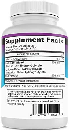 Keto Diet Pills 1000 Mg- Advanced Weight Loss Supplements- Burn Fat Instead of Carbs- 30 Day Supply 6