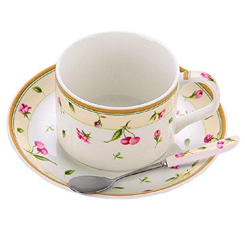 LOVE IN PARIS Modern Coffe Cup English Style Tea Mug Set With Plate&Spoon
