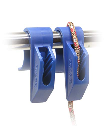 "Folbe Boat Fender Hanger Adjuster Clip (Sold in Pairs) - Fits 7/8"" (22 mm) Rails - Blue"