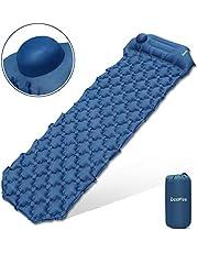 Deeplee Isomatte Camping Aufblasbare Luftmatratze Schlafmatte Eingebaute Presspumpe,Ultraleichte Isomatte für Outdoor,Feuchtigkeitsfes für Wandern,Backpacking,Camping,Strand(Blau)